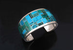 Wide Inlay Cuff Bracelet