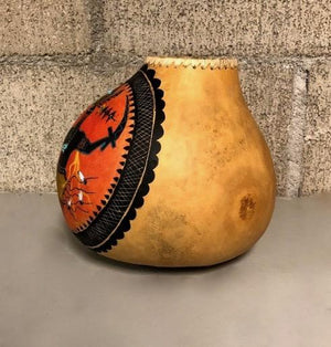 Apache Gourd Bowl-Sculpture-Robert Rivera-Sorrel Sky Gallery
