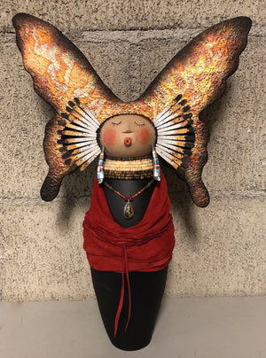 Buttefly Maiden-Sculpture-Robert Rivera-Sorrel Sky Gallery