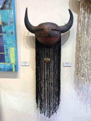 Robert Rivera-Sorrel Sky Gallery-Sculpture-Dark Buffalo Mask