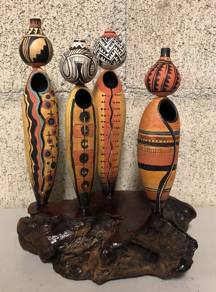 Four Ladies with Pots On Stand-Sculpture-Robert Rivera-Sorrel Sky Gallery