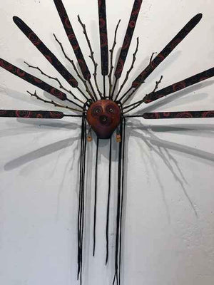 Robert Rivera-Sorrel Sky Gallery-Sculpture-Gourd Mask