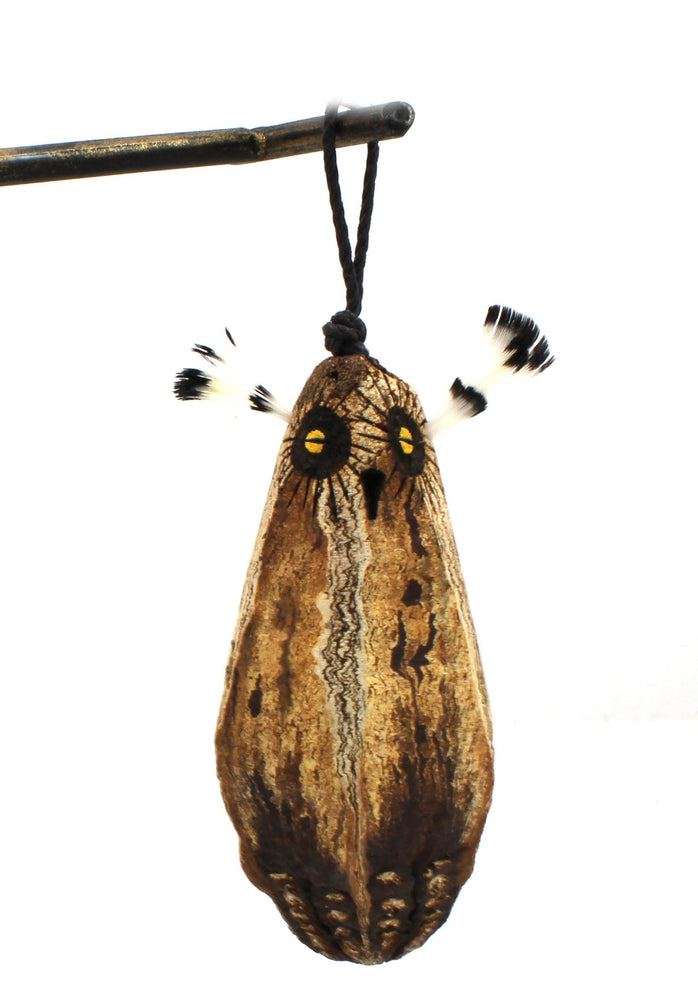 Mahogany Pod Owl Christmas Ornament