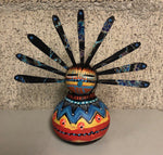 Small Gourd Kachina With Feathers