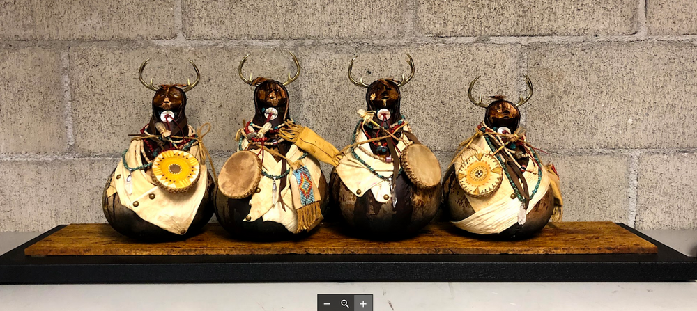 Tribal Council Deer Warriors-Sculpture-Robert Rivera-Sorrel Sky Gallery
