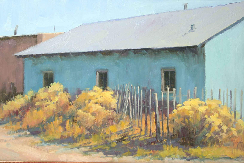 Robert Rohm-Sorrel Sky Gallery-Painting-Blue Adobe