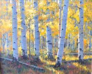 Robert Rohm-Sorrel Sky Gallery-Painting-Fall Forest Light