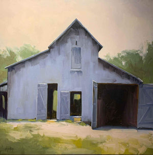 Robert Rohm-Sorrel Sky Gallery-Painting-Gray Barn