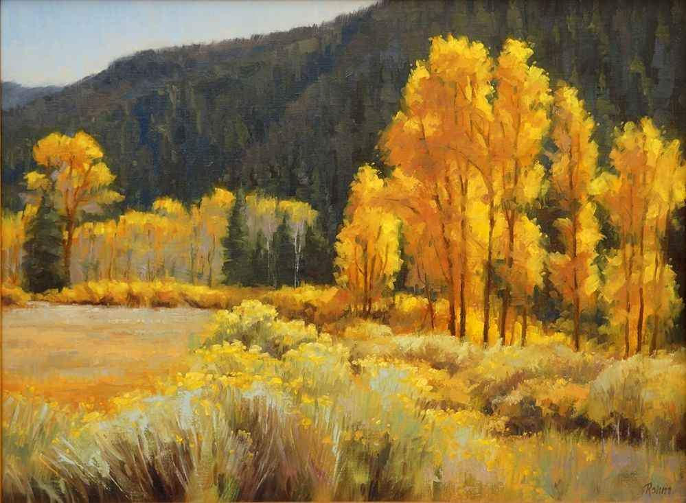Robert Rohm-Sorrel Sky Gallery-Painting-New Mexico Fall