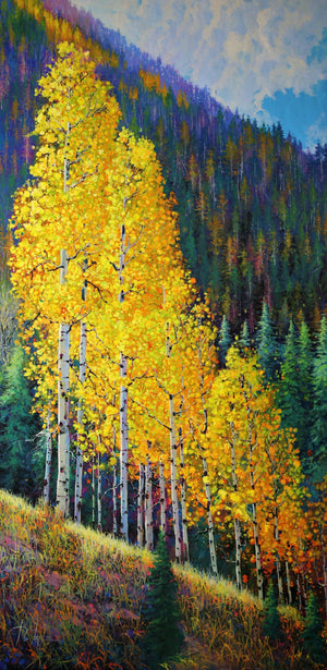 San Juan Mountains Golden Light-Painting-Roberto Ugalde-Sorrel Sky Gallery