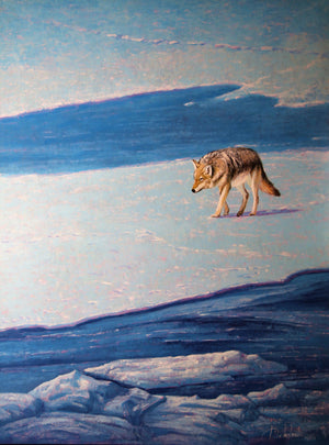 Yellowstone Coyote-Painting-Roberto Ugalde-Sorrel Sky Gallery