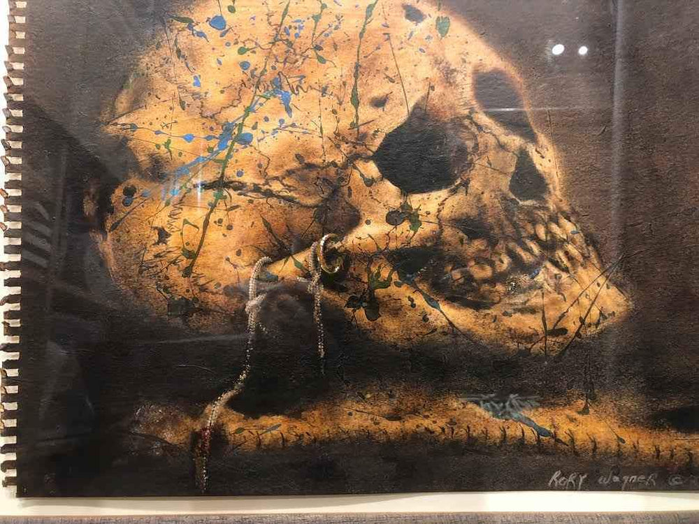 Rory Wagner-Sorrel Sky Gallery-Painting-Painted Skull Study