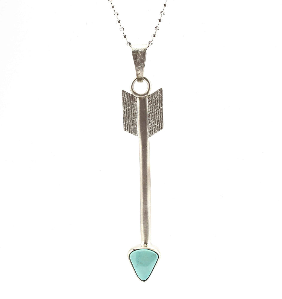 Arrow Pendant with Turquoise