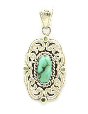 Shane Hendren-Sorrel Sky Gallery-Jewelry-Carico And Peridot Pendant