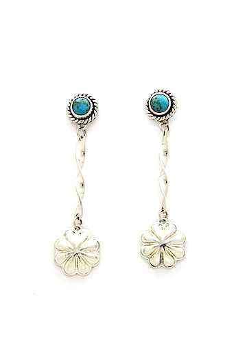 Kingman Flower Drop Earrings