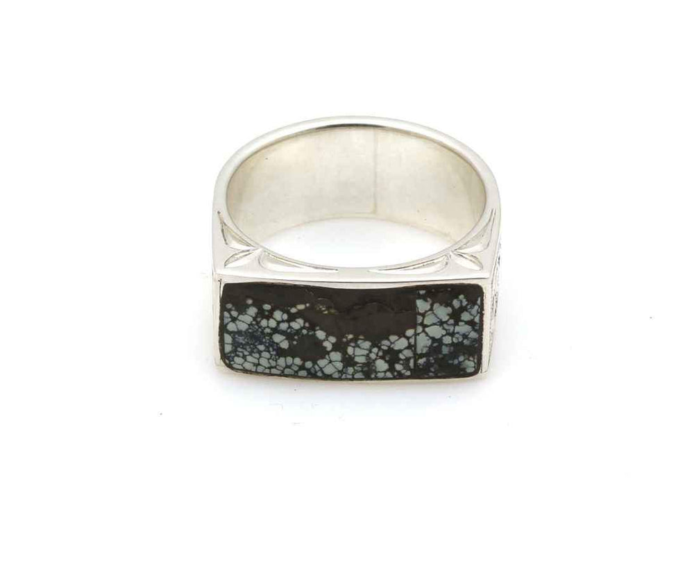 New Landers Turquoise Engraved Ring