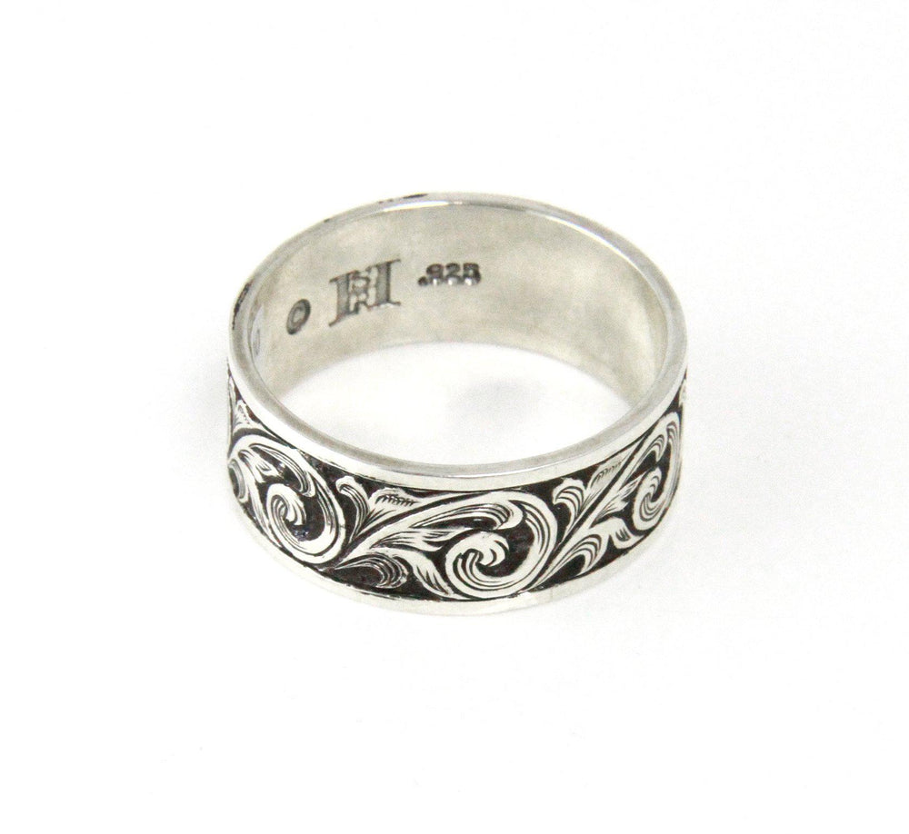 Oxidized Flourish Ring