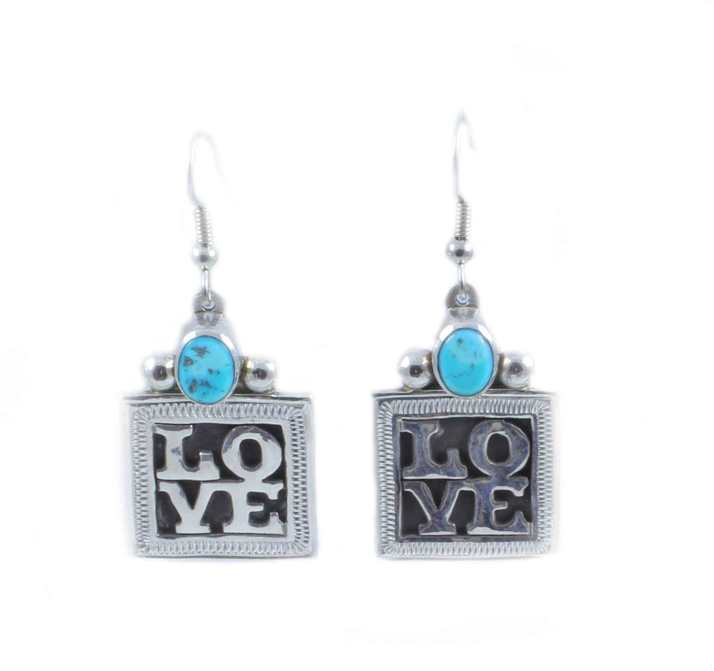 Square Love Earrings