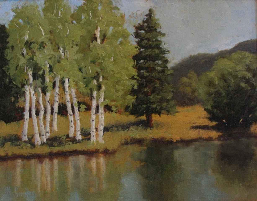 Sharon Abshagen-Sorrel Sky Gallery-Painting-Aspen Reflection
