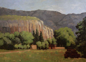 Sharon Abshagen-Sorrel Sky Gallery-Painting-Ghost Ranch Morning