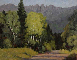 Sharon Abshagen-Sorrel Sky Gallery-Painting-Heading To Kennebec Pass