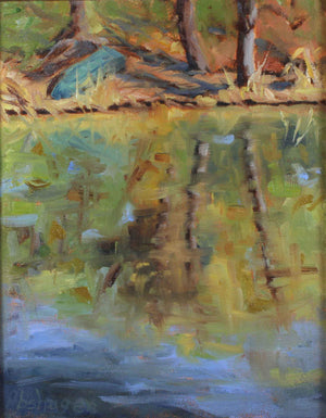 Sharon Abshagen-Sorrel Sky Gallery-Painting-Pond At Patagonia