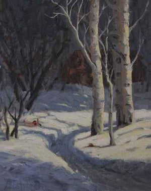 Sharon Abshagen-Sorrel Sky Gallery-Painting-Quiet Days In The Winter