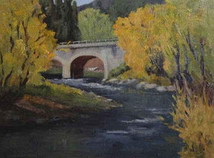 Sharon Abshagen-Sorrel Sky Gallery-Painting-The Bridge