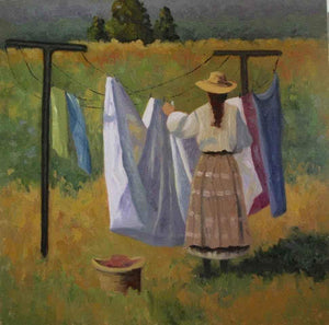 Sharon Abshagen-Sorrel Sky Gallery-Painting-The Laundress