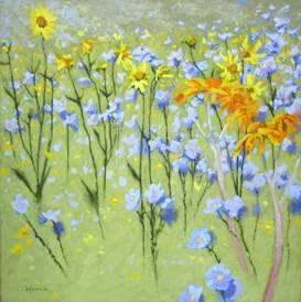 Shirley Novak-Sorrel Sky Gallery-Painting-Joyful In July I