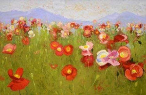 Shirley Novak-Sorrel Sky Gallery-Painting-Poppy Heaven