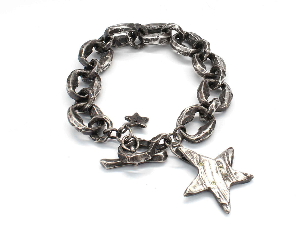 Canary Diamond Star Link Bracelet