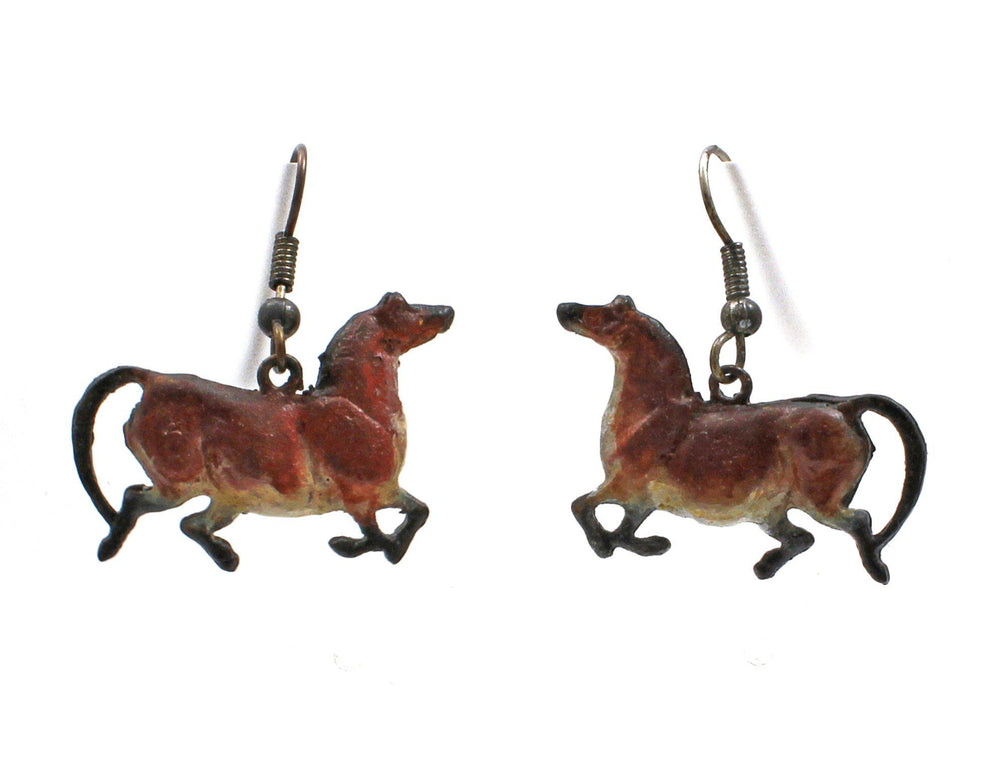 Double Sided Bronze Mare Earrings