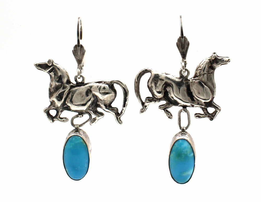 Mare Earrings with Turquoise