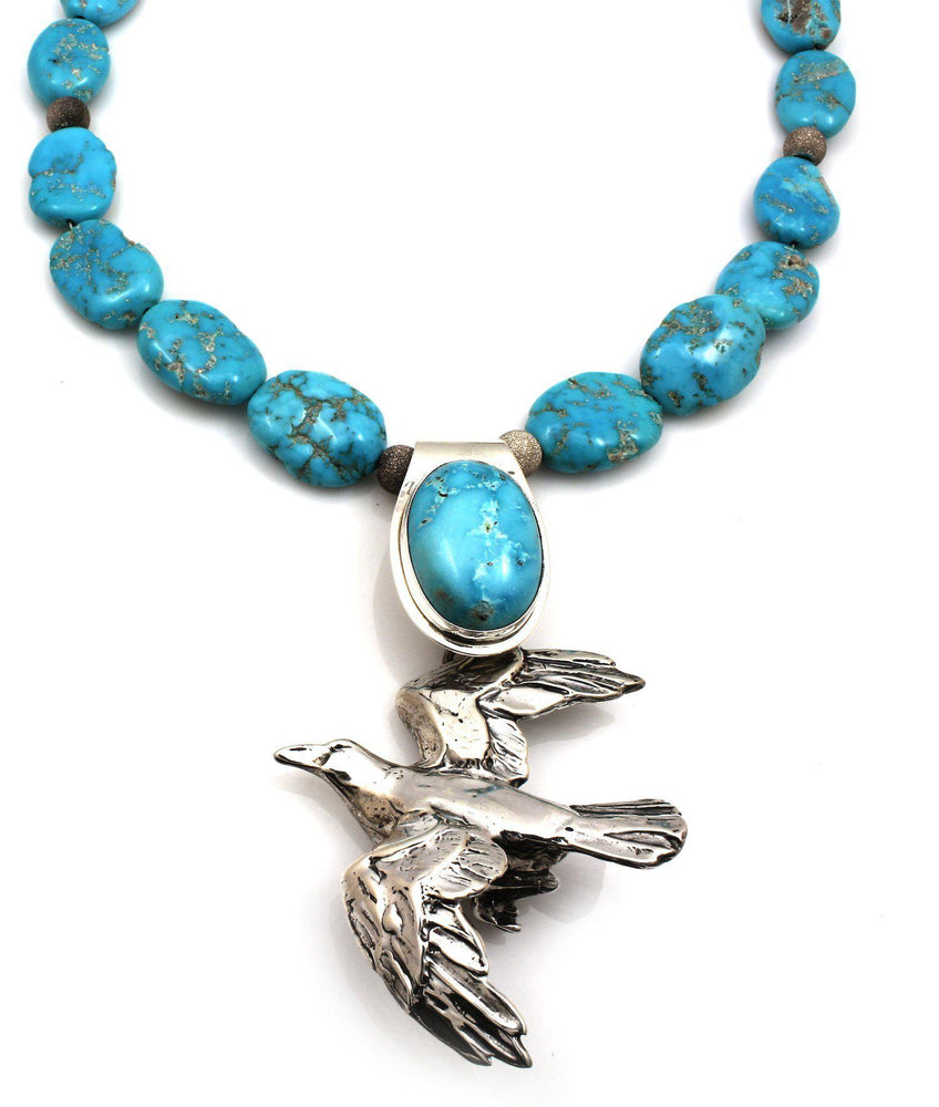 Raven Flight Turquoise Necklace