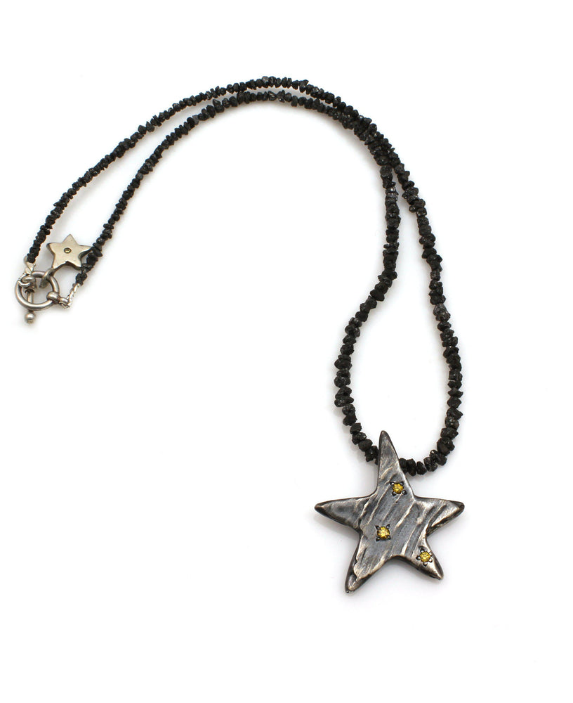 Star with Diamonds Necklace