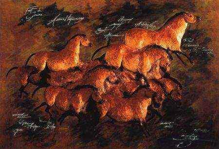 Mares Of The Ice Age Giclee