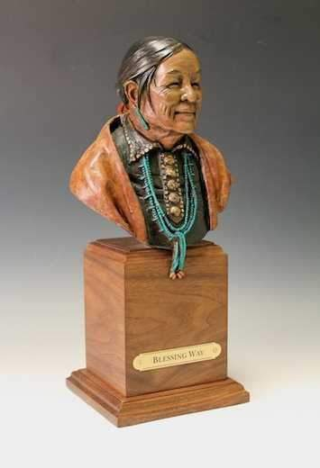 Star Liana York-Blessing Way Bust-Sorrel Sky Gallery-Sculpture