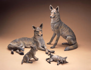 Star Liana York-Coyote Family-Sorrel Sky Gallery-Sculpture