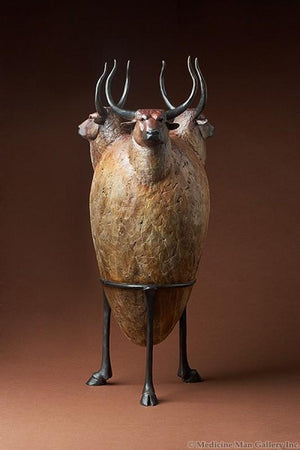 "Star Liana York-Dream Urn ""Bull Vessel""-Sorrel Sky Gallery-Sculpture"