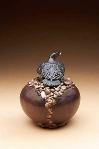 "Star Liana York-Dream Urn ""Pebbles Vessel""-Sorrel Sky Gallery-Sculpture"