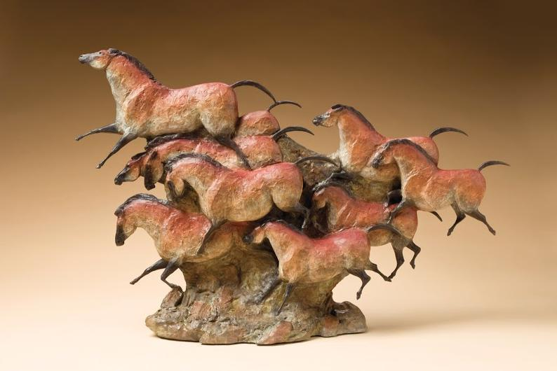 Star Liana York-Mares of the Ice Age-Sorrel Sky Gallery-Sculpture
