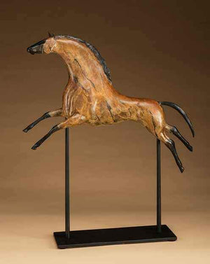 Star Liana York-Tribal Stallion-Sorrel Sky Gallery-Sculpture