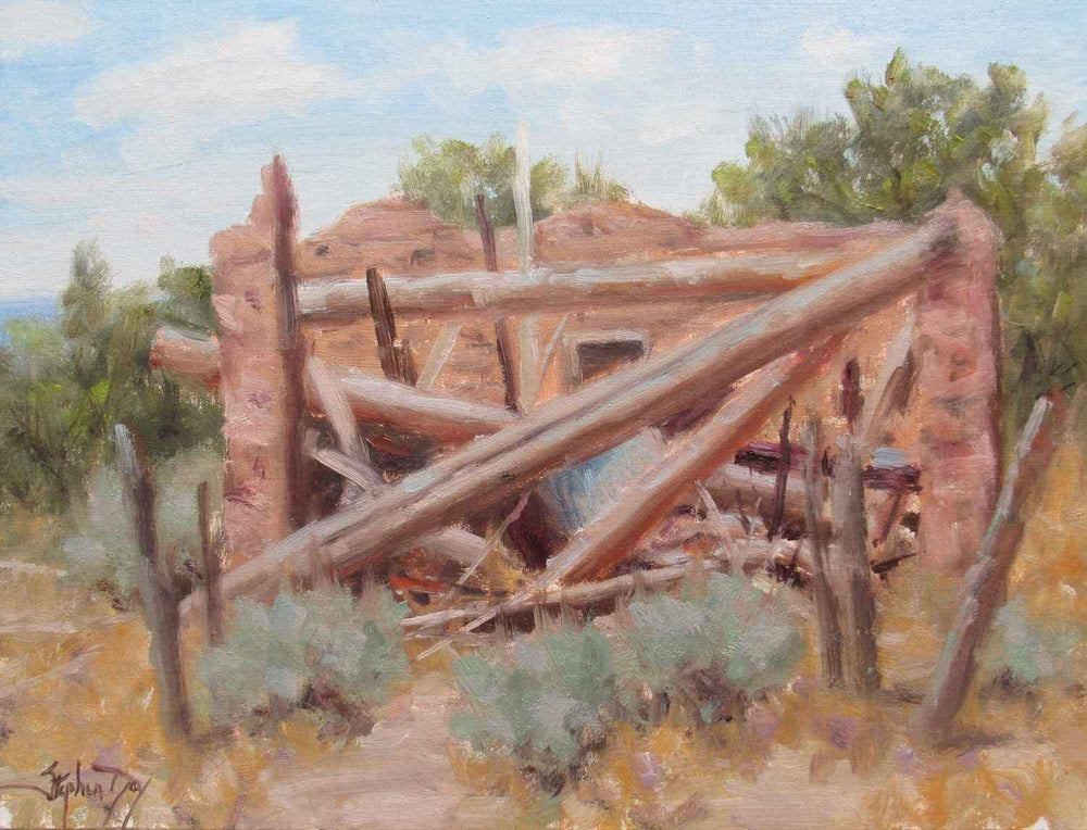 Stephen Day-An Old Ruin-Sorrel Sky Gallery-Painting