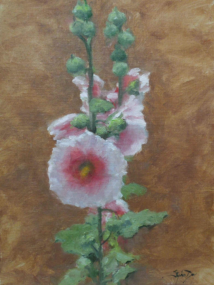 Stephen Day-Classic Hollyhocks-Sorrel Sky Gallery-Painting