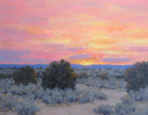 Glowing Sky Near Santa Fe-Painting-Stephen Day-Sorrel Sky Gallery
