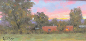 Original oil painting of a southwest sunset by Stephen Day