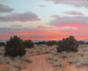 Land, Sky, Evening-Painting-Stephen Day-Sorrel Sky Gallery