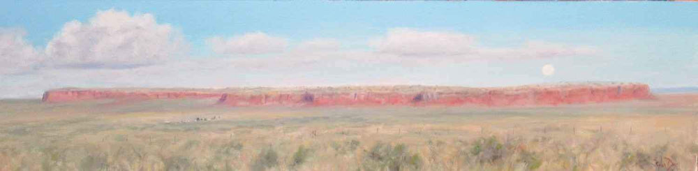 Stephen Day-Moon Over Red Mesa-Sorrel Sky Gallery-Painting
