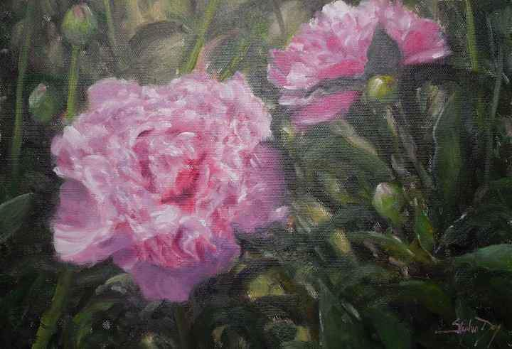 Stephen Day-Peonies-Sorrel Sky Gallery-Painting